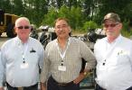 Enjoying the events of the day are (L-R) Sylvain Benoit, GB Equipment Inc., Quebec, Canada; Alex Musa, SNA Manufacturing, Acworth, Ga.; and Ken Pryzgoda, KP Sales & Marketing, Greely, Colo.