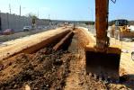 Excavation for Northbound Express Lane Underpass.