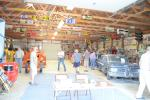 A garage full of interesting antique equipment, cars and other items greeted visitors to the State Line Machine 50th anniversary open house.