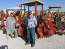 Tim Johnson (L), T-N-T Trucks of Bangs, Texas, and his friend Ken Burris check out this Ditch Witch H515 trencher.