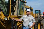 Andy Carrasco of Empire CAT took a long look at this Cat 140H motorgrader.