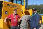 Brian Lewis (L), owner of Natural Landscaping, Northborough, Mass., and Phil Romano, owner of Scrap Metal Management, West Newbury, Mass., were both on the hunt for equipment to add to their fleet.