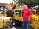 Michael Kemmlein (L) and Vince Forte, both of Wacker Neuson, are eager to discuss their company's product line, including this GP6600 generator.