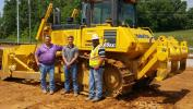(L-R) are Joe Guyton, Cody Smith and Camden Guyton, all of Duracap Asphalt Paving Contractors.