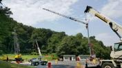 Mobile, tower and lattice cranes at Stephenson Equipment Inc.'s Harrisburg, Pa., hands-on training and testing location.