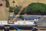 Honolulu Transit photo. Guideway construction makes its way east towards Lehua Avenue in Pearl City.