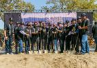 The Los Angeles Football Club (LAFC) together with supporters, city and county leaders and representatives from Major League Soccer, broke ground on its new 22,000-seat soccer-specific venue named Banc of California Stadium on Aug. 23.