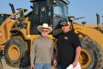 Jerry (L) and Brett Firth of Dirt Worx, Inc. in Bakersfield, Calif., took a long look at the Cat 950H.