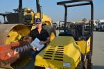 Kelly Hudson of Cal-Prime Inc. came to the Tipton auction looking for compaction equipment. She was interested in these Dynapac and Wacker machines.