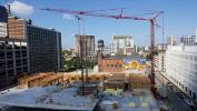"""To be known as the """"gateway"""" to Center City Philadelphia, Lenick Construction is hard at work on the second building of the Hanover at North Broad Project utilizing Stephenson's Potain T130."""