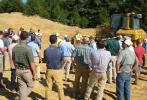 A crowd assembled in Alabaster, Ala., to find out more about the newest dozer technology from Caterpillar.