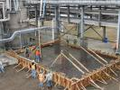 Solvay Chemicals photo In March 2016, site preparation for the Longview Solvay plant began, and crews poured the mat slab equipment foundations and installed the underground process drainage and electrical systems.