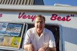 """""""FREE ICE CREAM!"""" Mister Softee's Ice Cream of Bridgeport, Conn., was a delicious treat on this surprisingly hot 85 degree """"fall"""" day."""