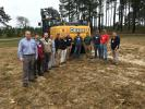 This John Deere 210G excavator was set up with the Topcon x53 excavator system from Benchmark Tool & Supply.  Benchmark representatives were on hand to answer questions and explain the system, including (L-R) John Mooney, Mike Gaillard, Andy Pugh, Justin Moore, Levi Senter, Scott Smith, Justin Taylor, Perry Pope, Marcus Barnes, Allen Collins, Adam Leviner and Robby Pugh.