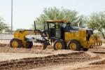 Customers had the chance to see the John Deere 872 GP grader in action.