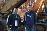 Joseph Cardillo (L), owner of Joseph P. Cardillo & Son Inc., a general contractor in Wakefield, Mass., and Paul Blais, Construction Support Equipment in Whitaker, N.H., were at the sale looking to score some great deals.