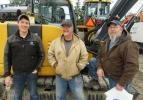 (L-R): Ethan Irish, Murphy Tractor & Equipment Company, talks equipment with Fred Bernhofer and Erick Becker of Arcon Corporation.
