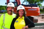 Owners Joe and DeAnne DeNoble of Joe DeNoble Sewer & Water.