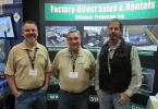 (L-R): Jim Hamilton, Raul Felman and Al Baron, all of Efficiency Production, greet attendees at the MITA conference.