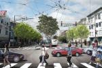 Other elements of the project include safety features like high-visibility crosswalks and countdown signals for people walking at each intersection along with new sidewalk lighting along the street.
