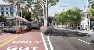 Features of Bus Rapid Transit on Van Ness will include dedicated center-running lanes, furnished boarding stations and installing proven safety enhancements.