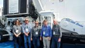 (L-R) are Steve Peel, Pat Crawford, Brian Hartsveld, John Wright and Jack Moniger, president of Construction & Industrial Equipment in Lodi N.J.