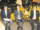Distinguished gentlemen from Sakai Heavy Industries in Japan, were working with Sakai America to promote the product lineup. (L-R): Yukihiko Tomitori, Toyohio Aida and Ichiro Sakai.