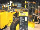 The John Deere display showed just how far motorgrader technology has evolved over the past 40 years with a perfectly restored 1967 John Deere JD570 next to a brand new 2017 John Deere JD622G.