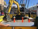 Wacker Neuson held an operator contest that had a steady stream of prospects trying out their machine.