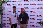 Nathan Mayell (L), president, Patrick Powel, owner and CEO, both of Axe Trailers of Delray Beach, were busy working their outside booth at ConExpo — and having a good time doing it.