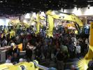 A huge crowd gathered at the Kobelco exhibit to check out a full line of hydraulic excavators in the North Hall.