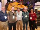 (TM) MNSW (Volvo) All the latest models were on display at the Volvo North Hall exhibit. At the booth (L-R) are Tony Rosetti, Penn Jersey Machinery; Kevin Reimert, Schlouch Inc.; Walt Joachim, Penn Jersey Machinery; and Don Swasing and Richard King, Schlouch Inc. in Blandon, Pa.