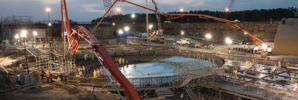 Construction on the first nuclear concrete placement on the V.C. Summer plant back in 2012. via Scana Corporation.