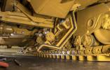 To reduce maintenance downtime, enhance safety and facilitate machine clean-out, contractors can opt for Powered Bottom Guards on the underside of the D8T.