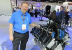 Carl Kumrow presents the latest innovations on display at Ford Commercial Vehicles exhibit, including the 6.2L V-8 flex-fuel engine.