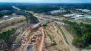 NCDOT photo Nearly six decades after the project was first proposed, the $142 million East End Connector is taking shape in Durham County, N.C.