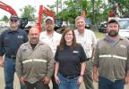 (L-R) are Frankie Raney, service tech; Randy Hopson, service tech; Terry Skinner, parts operations; Liesel Finney, branch coordinator; Mike Moseley, customer support manager; and Edmond Turner, service tech, all of HMI, Birmingham, Ala.