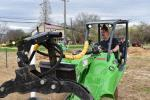 Rich Ducko, technician of Princeton Theological Seminary, works through the obstacle course on the Avant skid steer.