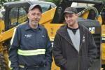 Charlie Faithfull (L), maintenance manager, and Manny Soares, operator/mechanic, both of Michael Ferrucci Repair, in Freeport, N.Y., are looking for bargains.