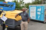 Eudes Defoe, mid-Atlantic regional channel manager of Atlas Copco, looks forward to speaking with customers at the One Day Sale event.