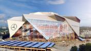 A rendering of the Atlanta Falcons' new Mercedes-Benz Stadium.