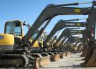 The auction included a nice selection of compact equipment including a package of Volvo mini-excavators.
