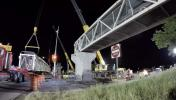 The bridge section is loaded onto a truck and will be reused. (UDOT image)
