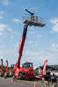 Manitou's MRT 2550 rotating telehandler was on display for guests to see.
