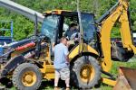 This local contractor was eager to try out this Cat 420E loader backhoe.