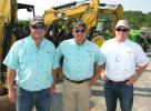 (L-R): Tom Powell, Joey Martin and Matt Warren, all of Joey Martin Auctioneers, stand ready to get the auction rolling.