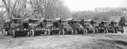 A fleet of Gorman Bros. Inc. paving equipment in Troy, N.Y., in 1929.