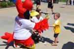 St. Louis Cardinals mascot, Fredbird was popular with everyone in attendance.