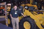 John Duncan, vice president, assistant governmental sales manager, Ring Power of north Florida mans the Caterpillar display at the PWX show.