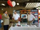 Manufacturer representatives from many of the dealership's equipment lines, including Hazemag, were on hand to discuss their product lines.